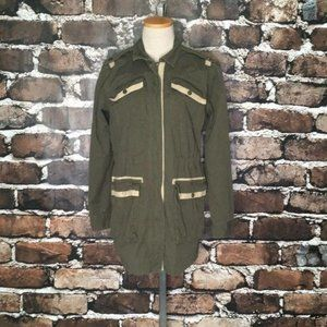 CAbi Military Anorak Jacket Olive Green Small